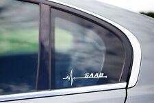 Saab Is in my Blood Bumper Window Vinyl Decal Sticker 9-3 9-5 Aero Turbo 900