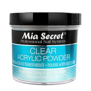 Mia Secret Professional Nail System Clear Acrylic Powder 8 oz