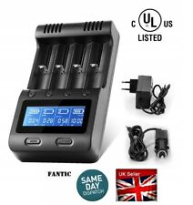 Universal Battery Charger 4X Charging Slots Battery Charger LCD Display Intellig