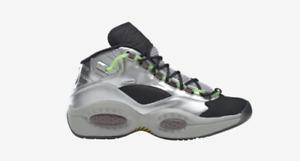 Reebok Question Mid X Minions Silver Green Black Size 8 - 12 BRAND NEW