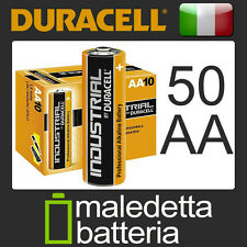 50 Pile DURACELL INDUSTRIAL Stilo /AA/LR6  Alcaline DURATA SUPERIORE! (GM6)