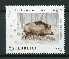 Austria 2019 MNH Wild Boar Wild Animals & Hunting 1v Set Fauna Stamps