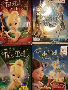 Lot Of 4 Disney Fairies Tinkerbell And The Secret Of The Wings Dvd LIKE NEW USA1