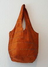 Boho Vintage Chic Indian Handmade Silk Shopping Hand Bag - Hippy/Ethnic Style.