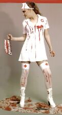 SEXY HALLOWEEN KOSTÜM Blutige Krankenschwester ZOMBIE Horror KLEID Blut 36/38-46