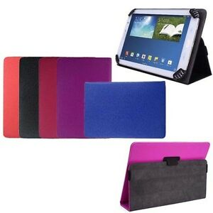 """Universal Premier PU Leather Folio Cover Smart Stand Case for 7"""" Tablets"""