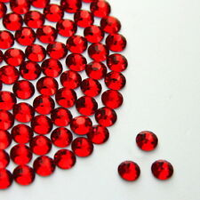 Diamante Me Siam Red Flat Back Loose Rhinestones Diamantes Gems AAA Quality