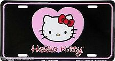 Hello Kitty Pink Heart Embossed Metal Vanity Car License Plate Auto Tag