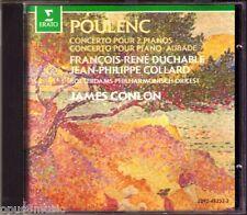 Poulenc 2 piano Concerto AUBADE Duchable Collard Conlon CD James Jean-philippe