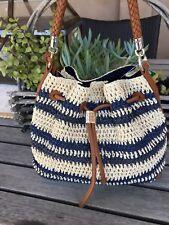 Brighton NWT Sierra Straw And LeAther Purse/Handbag