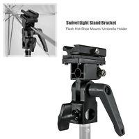 B Type Flash Bracket Umbrella Holder Swivel Light Stand Adapter Cold-shoe Flash