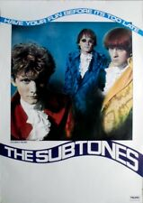 Subtones, the - 1986-tourplakat-Concert-boys want have fun-Tour póster