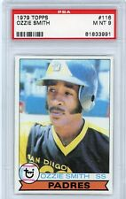 1979 TOPPS OZZIE SMITH PSA GRADED 9 MINT #116 BASEBALL ROOKIE CARD