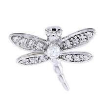 Sterling Silver Jeweled Dragonfly Pendant  w/ Cubic Zirconia Stones