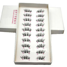Hot 10 Pairs/lot handmade Cross False Eyelashes Half Mini Corner Eyelashes