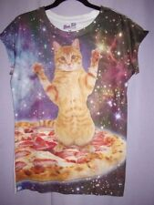 Polyester Short Sleeve Cats Regular Size T-Shirts for Women