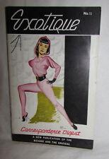 EXOTIQUE #13 Vintage Magazine Bizarre & UnUsual BETTIE PAGE Adult Fashion Theme