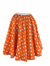 Ladies Polka Dot Skirt & Scarf  Rock & Roll Fancy Dress 50'S Jive Costume