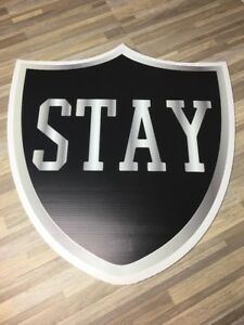 "Oakland Raiders HustleHead Cut Out Fat Head - One Of A Kind! 23"" x 22"" (STAY)"
