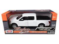 2019 Ford F-150 Lariat Crew Cab Pickup Truck White 1/24-1/27 Diecast Model Car b