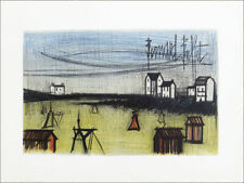 Bernard BUFFET Small Beach French Original Lithograph 20 x 26-1/2
