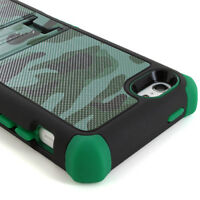 BeyondCell [TriShield] For Apple iPhone 5C Rugged Hybrid Hard Case Cover Stand