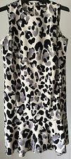 Next ~ black/grey on white animal print sleeveless dress size 8