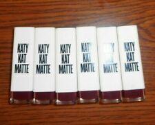 Lot Of 6 Cover Girl Katy Kat Matte Lipstick Kp09 Maroon Meow 0.12oz Each