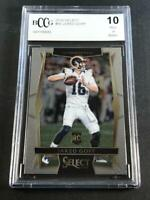 JARED GOFF 2016 PANINI SELECT #63 CHROME ROOKIE RC BGS BCCG GRADED 10