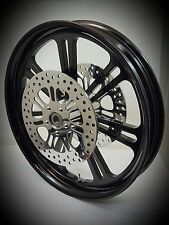 21 x 3.25 HARLEY DAVIDSON STREET GLIDE GLOSS BLACK RAGE'N' WHEEL ABS With ROTORS