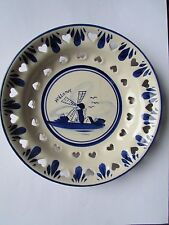 Delft Blue & White Dutch Holland Plate scenes of Windmills Hand painted VIINTAGE
