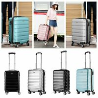 """PC Lightweight 20"""" Hand Luggage Trolley Bag Cabin Flight Suitcase For Delta Jet2"""