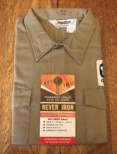 Vintage Quaker Oats Key Imperial Key Prest Mens Work Uniform Shirt Sz Large NOS
