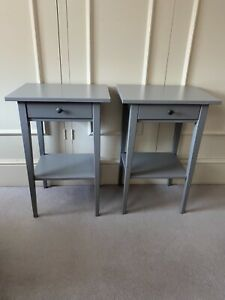 IKEA HEMNES SIDE TABLES IN GREY ( A PAIR)