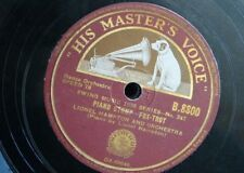 78 rpm LIONEL HAMPTON ORCH piano stomp / drum stomp
