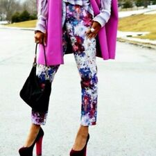 H&M LANA DEL REY - Purple Floral Trousers Bloggers Fave EU 34 UK 8