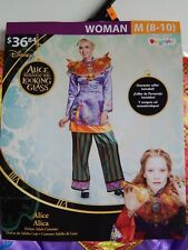 Disney Deluxe Halloween Costume Alice Through the Looking Glass, Women's Size M