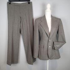 Ralph Lauren collection purple label pants suit sz 10 blazer jacket gray wool %