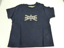 Burberry t-shirt azul aplicación talla 9m 74 (hg32)