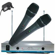 Twin AK-3300 VHF Wireless Cordless DJ Karaoke Public Address PA Mic Microphone