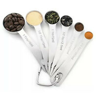 Stainless Steel Measuring Spoons New Set of 6 for Measuring Dry 18/8