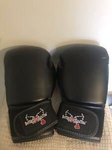Century I Love Kickboxing Unisex Adult Black MMA Boxing Gloves 12 Oz Preowned