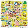 50 Pcs SpongeBob Stickers Laptop Skateboard DIY Decals Waterproof Vinyl Sticker