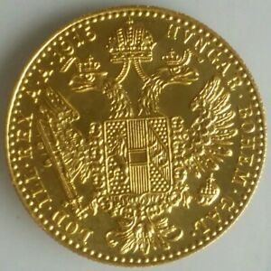 1915 Austria Gold Ducat Restrike