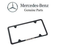 NEW Slimline License Plate Frame Black Genuine Q 6 88 0138 For Mercedes-Benz AMG