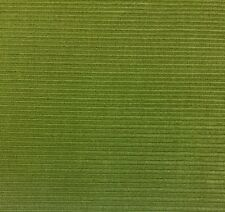 UNIKA VAEV COUP FOURRE GREENBACK LIME RIBBED STRIPE VELVET FABRIC BY THE YARD