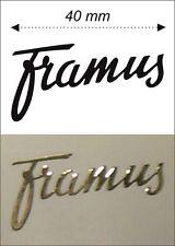 Gold self-adhesive PVC film Framus Logo Sticker