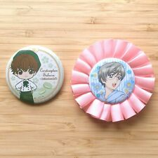 Rare cardcaptor sakura limited edition animate cafe can badge set Good condition
