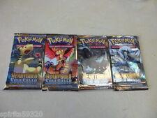 Pokémon 4 Booster HeartGold SoulSilver . 100% NEUF