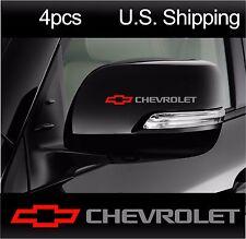 4 CHEVY Chevrolet Stickers Decals Mirror Door Handle Wheels Camaro SILVER-red